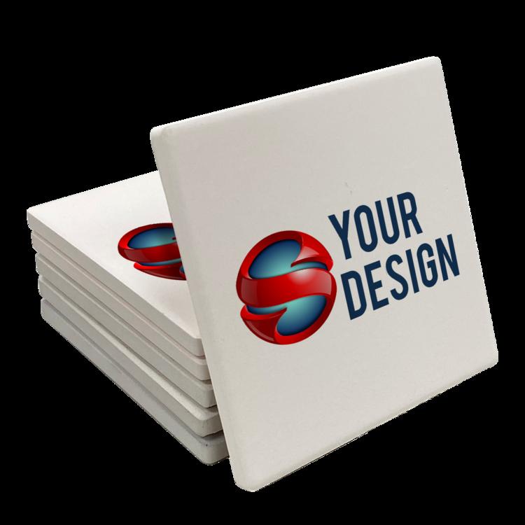 Custom Square Stone Coasters