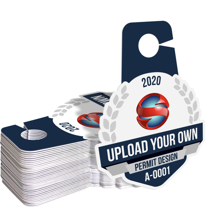 Upload Your Own Hang Tag Parking Permit